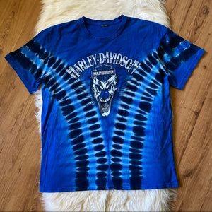 HARLEY DAVIDSON BLUE LAFAYETTE LOUISIANA TSHIRT